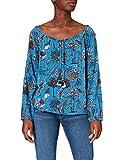 Timezone Printed Tunic Blouse Blusas, Blue Botanical Bloom, XXL para Mujer