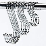Lifreer 15 ganchos en forma de S de acero inoxidable para colgar, varios...