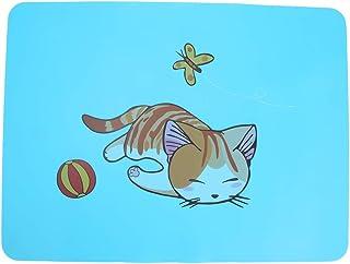LFLF Plateau pour Enfants (Kitty Bleu) 100g / 3.5ozilicone Motif Animal Mignon Motif D'isolation Antidérapante
