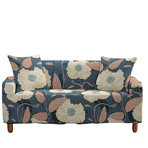 Funda elástica para sofá, Todo Incluido, Antideslizante, patrón Floral, Asiento, sofá, Fundas para sofá, Protector de Muebles, decoración del hogar,8,3 Seater(185-235cm)