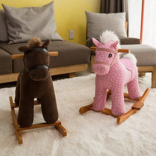 N/Z Tägliche Ausrüstung Wheeled Walking Horse Kid Ride On Toy Baby Schaukelpferd Kleinkindspiel Rocker Chair für 1 3 Jahre alte Standing Ride On Horse Toy (Farbe: Braun Größe: 60X28X60CM)