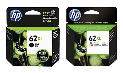 1x Set Original XL Tintenpatrone für HP Envy 7640 E All in One HP 62XL HP62XL - Black + Color