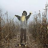 Haunted Hill Farm HHSCR-2FLSA Life-Size Animatronic Scarecrow, Color 2