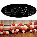 Funpa 4PCS Balloon Grid Set Love Shape Balloon Model Frame for Wedding Party Decor