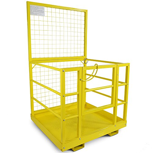 Titan Attachments Forklift Safety Work Platform, Steel Safety Cage for Most Standard Forklifts