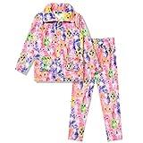 Girls Warm Winter Pajamas Kids Cat Pjs Set Plush Fleece Sleepwear,Size 8 9