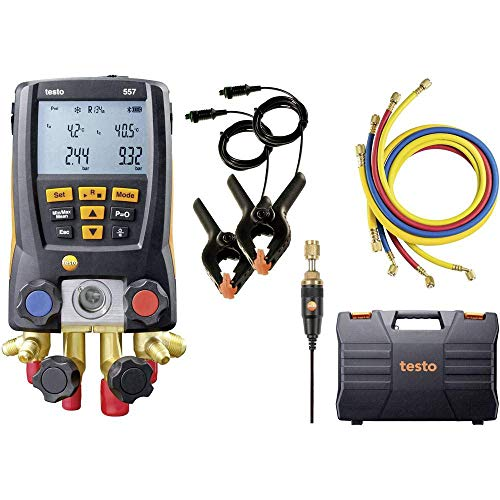 Testo 557 Digital Manifold Kit with Bluetooth and Set of 4 Hoses