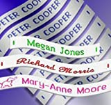 Label Weavers 36 Woven Sew-on Name Tapes/Tags for School/Camp/Care Home