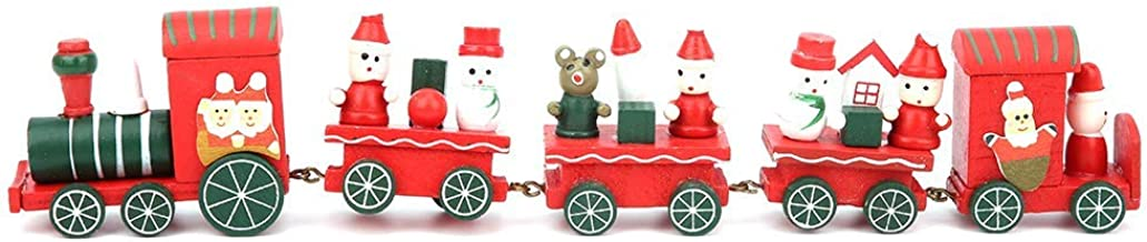 Unique Christmas Train Ornaments, Craft Kids Train Toy, Exquisite for Christmas Home Decorations(5 Sections)
