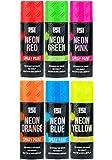 6 Flaschen leuchtendes Neonspray, Sprühfarbe, 200 ml, Graffiti, keine CFCs