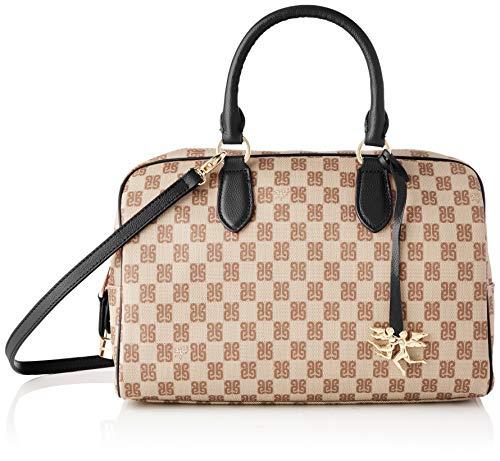 piero guidi Top Handles Bag, Borsa a Mano Donna, (Nero), 31x20x15 cm (W x H x L)