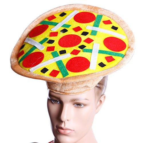 Anladia Pizza Hut Italienische Pizza Mütze Kopfbedeckung Halloween Kostüm Fasching Karneval für Erwachsene Kinder