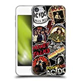 Head Case Designs Officially Licensed Custom Customised Personalised AC/DC ACDC Vintage Arte Carcasa de Gel de Silicona Compatible con Apple Touch 6th Gen/Touch 7th Gen