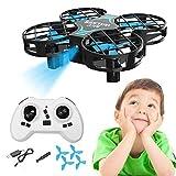 aheadad Mini Drone pour Les Enfants, Grille de Drone RC Quadcopter H823H Mini UAV Avion RC 3D 360 Degrés Avion Drone Télécommande Jouet Cadeau d'enfant pour l'anniversaire De Noël