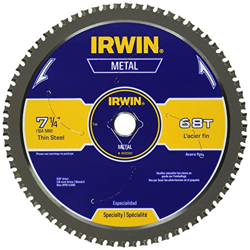 IRWIN 7-1/4-Inch Metal Cutting Circular Saw Blade, 68-Tooth (4935560) Carbide Cutting Saw Blade