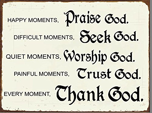 Moments with God Metal Sign, Christian, Inspirational, Home Décor