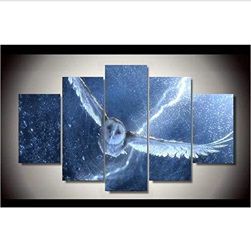 Hd Gedruckt Schnee Eule Muster 5 Teile/satz Gruppe Malerei Leinwanddruck Raumdekor Poster Drucken Bild Leinwand