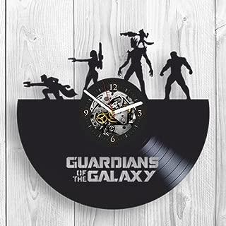 Vinyl wall Clock, The Guardians of the Galaxy 2, 2017, Marvel Comics, Movie, Home Decor, Vinyl Record, Pop Modern Wall Art, Best Gift for Boyfriend, Girl, Living Room Inspirational, Office Decor