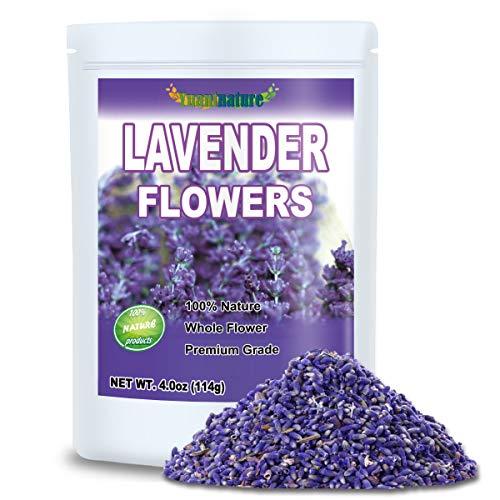 Premium Lavender Flowers, Dried Lavender Flower Buds for Tea, Food, Baking, Baths (4.0 oz)