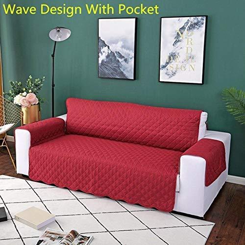 XCVBRemovable Armrest Hoes 1/2/3 Seat Wasbare Sofa Couch Cover Hond Kinderstoel Mat Meubels, Wave DesignD