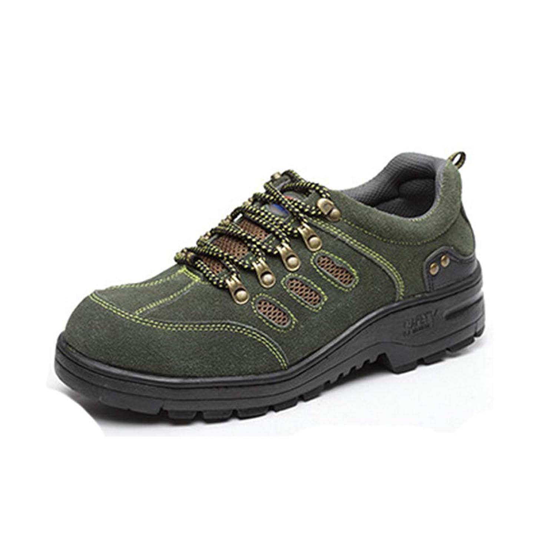 [Florai-JP] 安全靴 登山靴 ブーツ メンズ アウトドア レースアップ サバゲー マウンテン ミドルカット 厚底 通気 軽量 疲れない 滑らない 四季通用 靴底防護 普段履き対応 防滑 耐滑 耐摩耗 衝撃吸収 歩きやすい