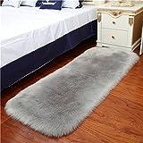 MATS LIJIANFENG Faux Fleece Schaffell Flauschige Shaggy Teppich, dekorative Sofakissen 5-6cm langes...