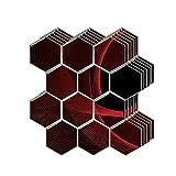 3D Papel pintado autoadhesivo de azulejos,Adhesivo de pared engrosado impermeable tridimensional de bricolaje, Azulejos de Gel,para Baño, Cocina,balcón y baño,30 x 30 x 0.3CM (Color:B,Size:10pcas)