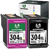 EconomInk Cartucho de tinta 304XL negro y tricolor 304 XL para HP Deskjet 3720 2600 Envy 5030 3750 3760 2630 5032 3735 2622 3762 3730 2620 2633 502020 5010 5055 AMP 100 130