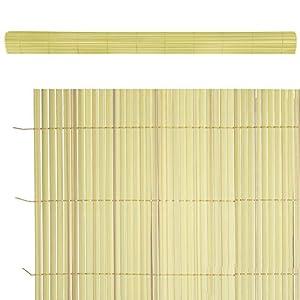 Lola Home Lola Derek Cañizo Artificial de ocultación para jardín, Bambú, 300x150x20 cm