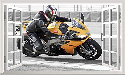 Chicbanners Adhesivo para pared, diseño de motocicleta V202, tamaño 1000 mm de ancho x 600 mm de profundidad (tamaño grande)