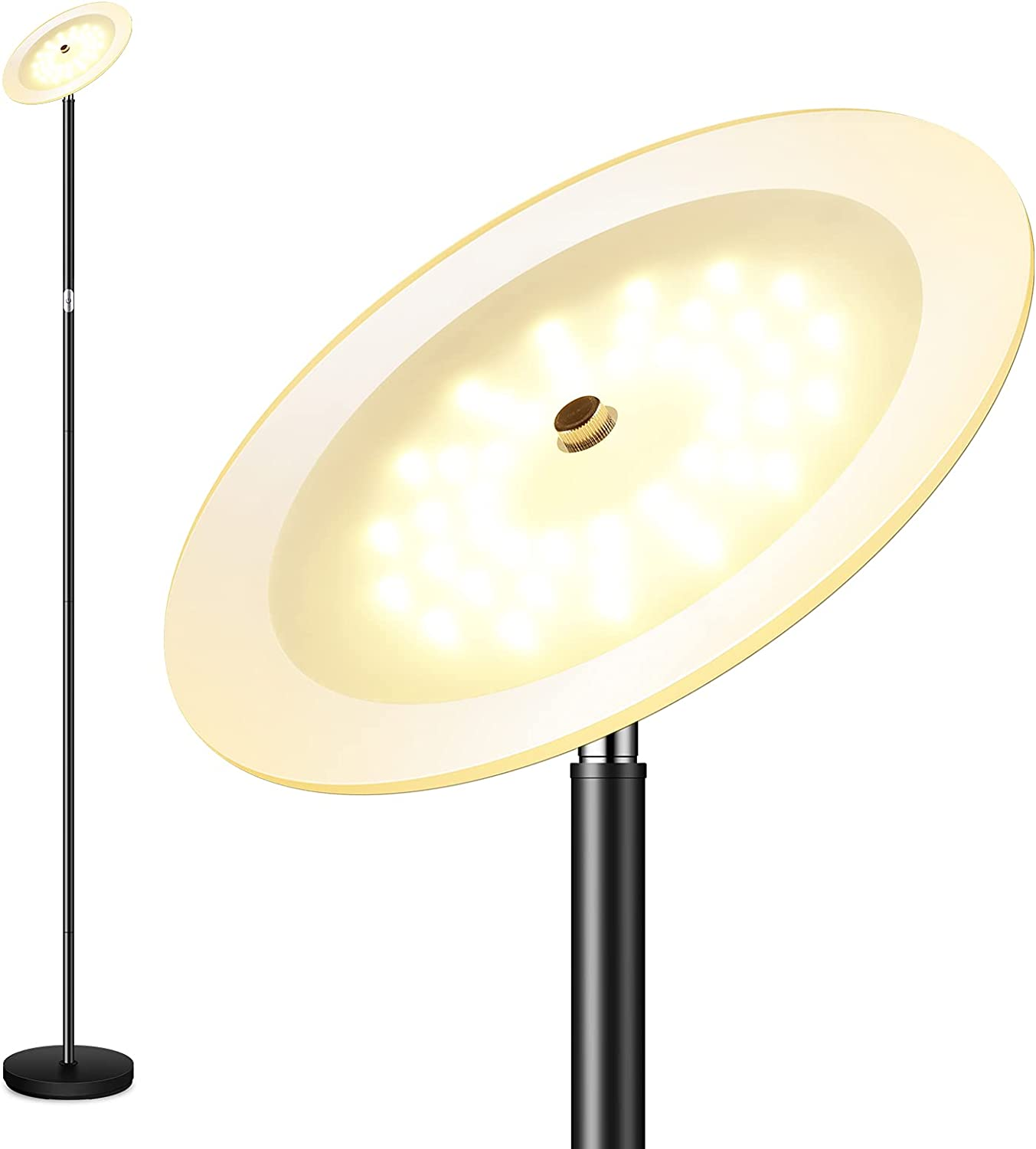 Floor Lamp Torchiere 20W LED La Bright sold Max 60% OFF out 2000LM