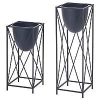 LGQ プラントスタンド、花は錬鉄のフラワースタンド、屋内バルコニーリビングルームフロアスタンド錬鉄工場花の棚の装飾ラック、3色のオプションのシェルフスタンド,ブラック