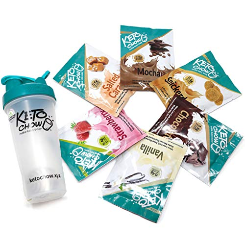 Keto Chow | Keto Meal Replacement Shake | Nutritionally Complete | Low Carb | Delicious Easy Meal Substitute | You Choose The Fat | Variety Starter Bundle | Single Meal Samples