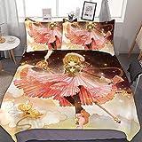 TIANAIS Juego de cama de 3 (1 funda, 2 fundas de almohada sin sábana) Cardcaptor SAKURA 264