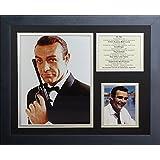 "Legends Never Die "" James Bondショーン・コネリーインチフレーム写真コラージュ、11x 14インチ"