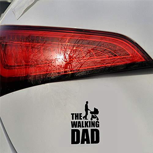 9,9 Cm x 15 Cm The Walking Dad Fun Aufkleber Baby An Bord Für Auto Laptop Fenster Aufkleber schwarz