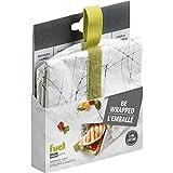 Trudeau Corporation 37808288 Green Sandwich Wrap Bag, Colors Vary 2-Pack