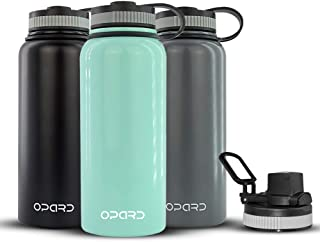 Opard Stainless Steel Water Bottle 32oz Vacuum Insulated Double Walls Water Bottle BPA Free with Double Lids (Mint)