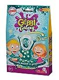 Simba Glibbi Galaxy 105953492 - Juguete para bañera, Convierte el Agua en Slime galáctico, 150 g, con 10 Estrellas Que Brillan en la Oscuridad, diversión en el baño, a Partir de 3 años