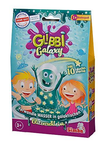 Simba 105953492 - Glibbi Galaxy, Badewannenspielzeug, verwandelt Wasser in galaktischen Glitzerschleim, 150g, mit 10 Glow in the Dark Sternen, Badespaß, Badezusatz, ab 3 Jahren