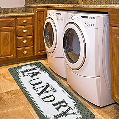 HiiARug Rubber Area Rug for Laundry Room, Non S...