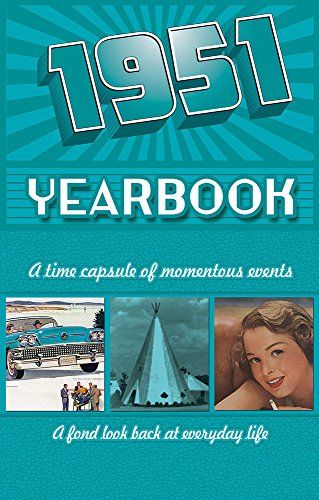 1951 Yearbook Celebration KardLet Birthdays, Anniversaries, Reunions, Homecomings, Client & Corporate Gifts (YB1951)