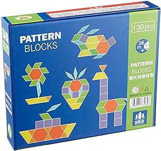 لعبة مكعبات بناء وتركيب اشكال للاطفال - 130 قطعة