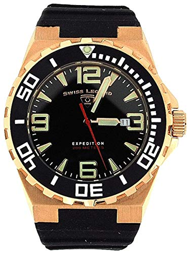 SWISS LEGEND 10008-RG-01-BB SL-10008-RG-01-BB Herren Armbanduhr Gummi schwarz