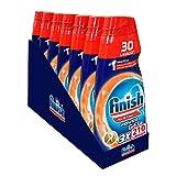 Finish Powergel - Gel detergente para lavavajillas líquido, multiacción, antiolor, 210 lavados, 7 paquetes de 30 lavados