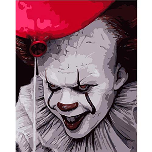 Jumbo Size Wooden Puzzle Scary Clown Character Picture Large Size 1000 Pieces of Wooden Puzzle,Unique Home Decorations and Gifts