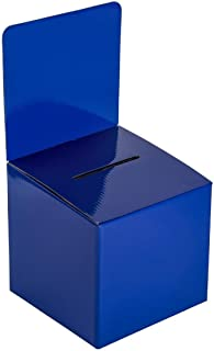MCB - Medium Cardboard Box - Ballot Box - Suggestion Box - Raffle Box - Ticket Box - with Removable Header for Tabletop Us...