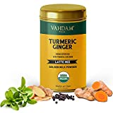 VAHDAM, Turmeric + Ginger Latte. 40 Cups (100g)   Golden Milk Powder