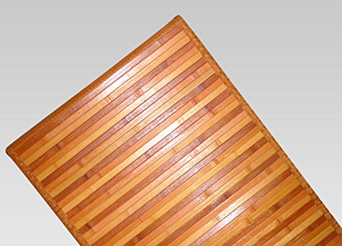 CapitanCasa Tappeto Bamboo Degradé Antiscivolo con Bordo Resistente Ai Lati 50x290 cm Arancio