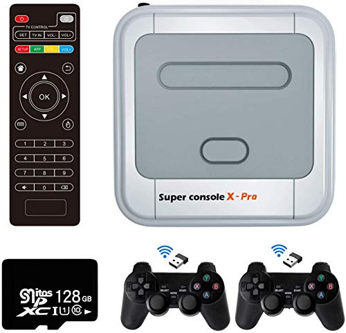 DEES Super Console X PRO Video Game, Console with Built in 41,000+ Games 50+ Emulators Classic Game, 4K TV HDMI Output,Support PSP/PS1/DC,2 Controllers,Best Gifts for Kids/Family, 256G